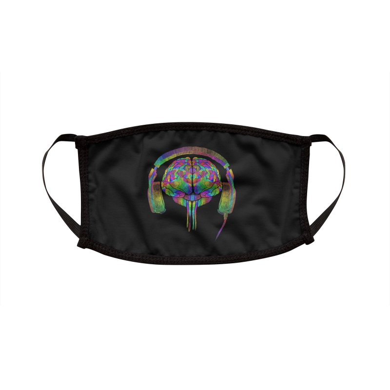 SKULL BRAIN Accessories Face Mask by karmadesigner's Tee Shirt Shop