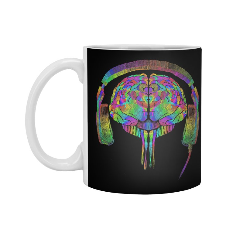 SKULL BRAIN Accessories Standard Mug by karmadesigner's Tee Shirt Shop