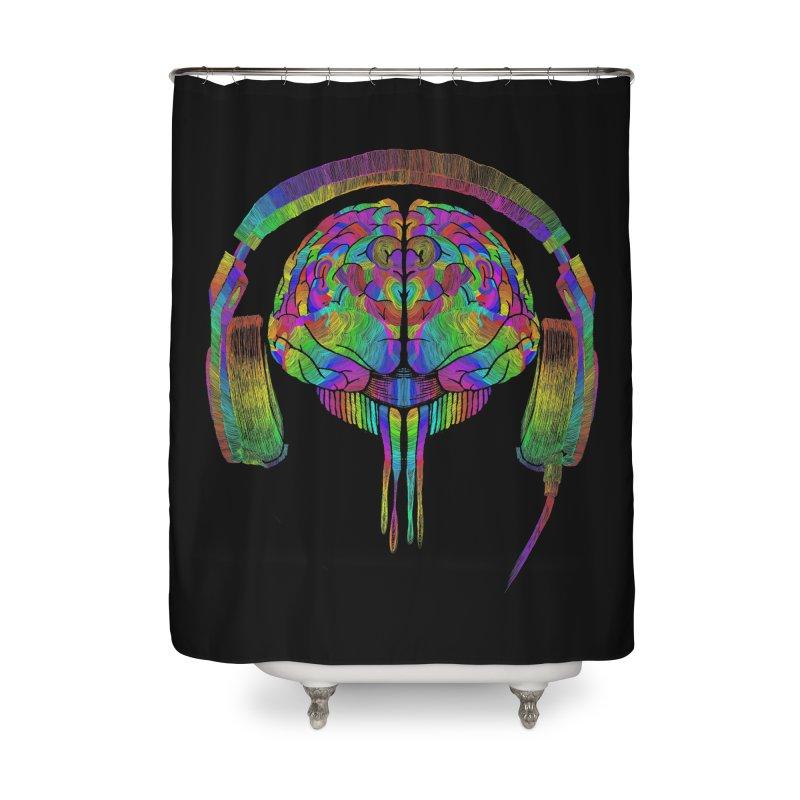 SKULL BRAIN Home Shower Curtain by karmadesigner's Tee Shirt Shop