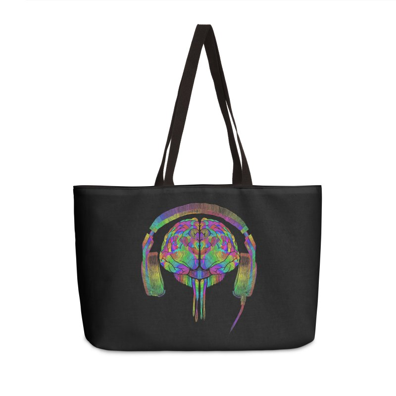 SKULL BRAIN Accessories Bag by karmadesigner's Tee Shirt Shop