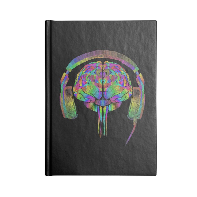 SKULL BRAIN Accessories Lined Journal Notebook by karmadesigner's Tee Shirt Shop
