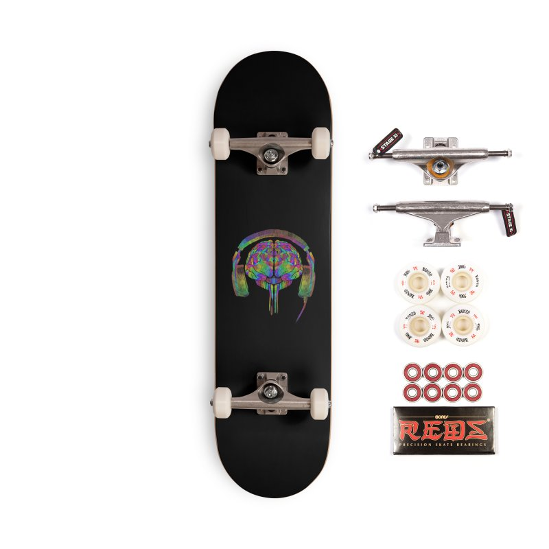 SKULL BRAIN Accessories Complete - Pro Skateboard by karmadesigner's Tee Shirt Shop