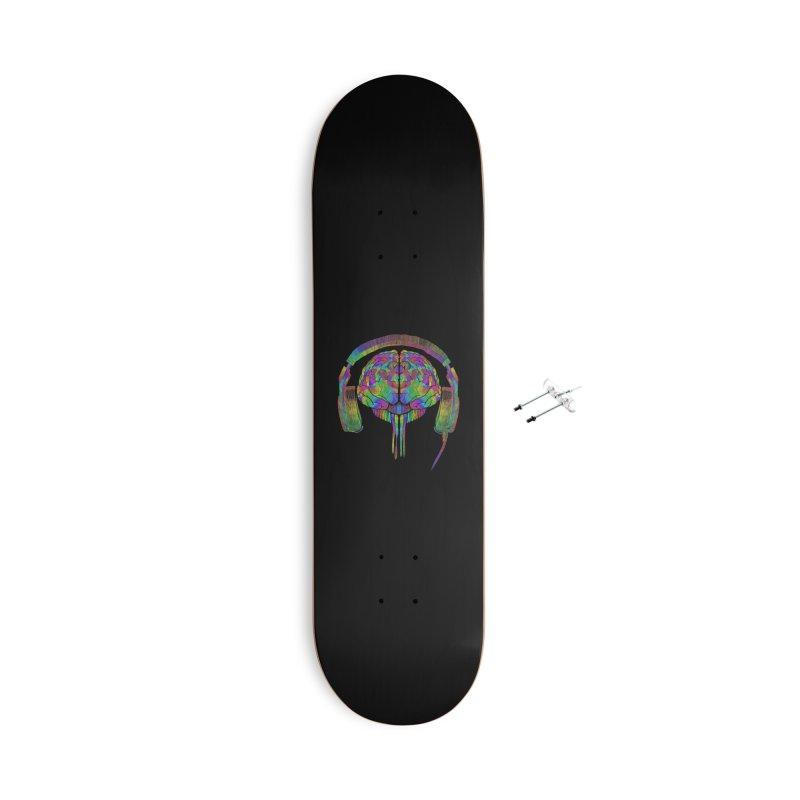 SKULL BRAIN Accessories Skateboard by karmadesigner's Tee Shirt Shop