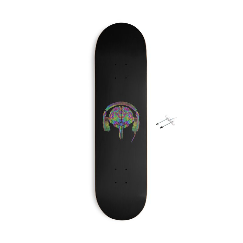 SKULL BRAIN Accessories Skateboard by karmadesigner's Tee Shirt Shop