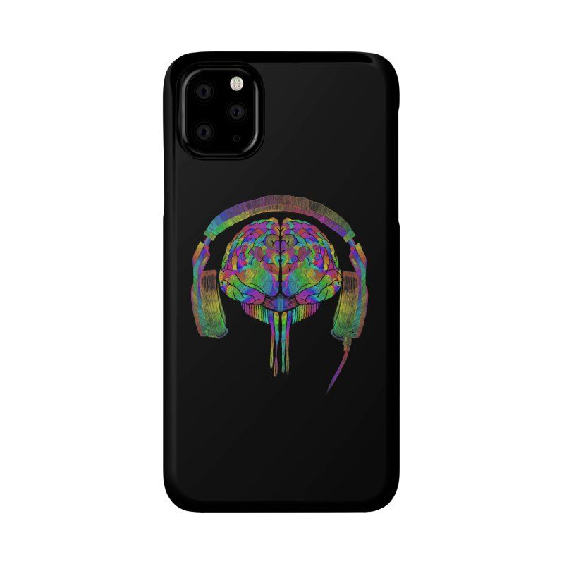 SKULL BRAIN Accessories Phone Case by karmadesigner's Tee Shirt Shop