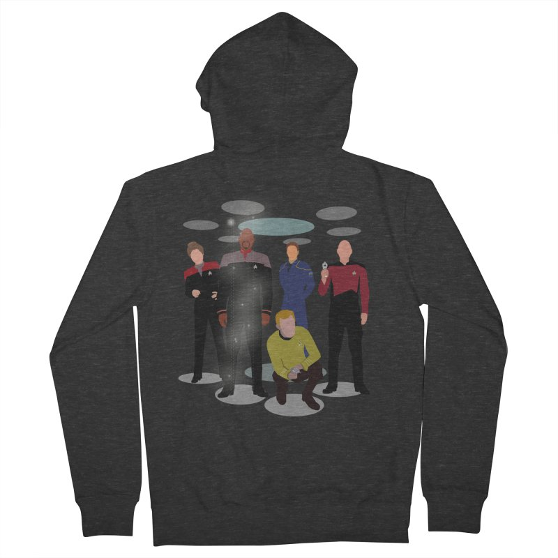 Captains Away Mission Women's French Terry Zip-Up Hoody by karmicangel's Artist Shop