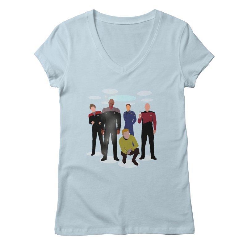 Captains Away Mission Women's V-Neck by karmicangel's Artist Shop