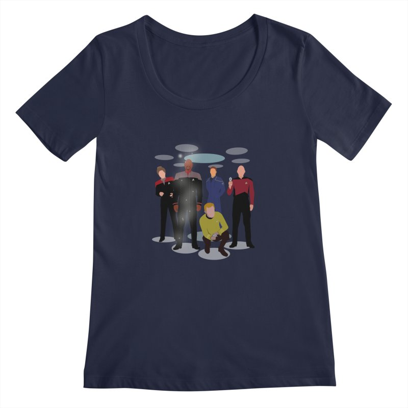 Captains Away Mission Women's Regular Scoop Neck by karmicangel's Artist Shop