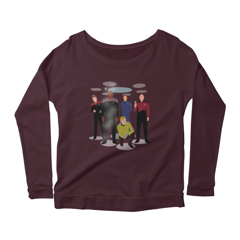 Captains Away Mission Women's Scoop Neck Longsleeve T-Shirt by karmicangel's Artist Shop