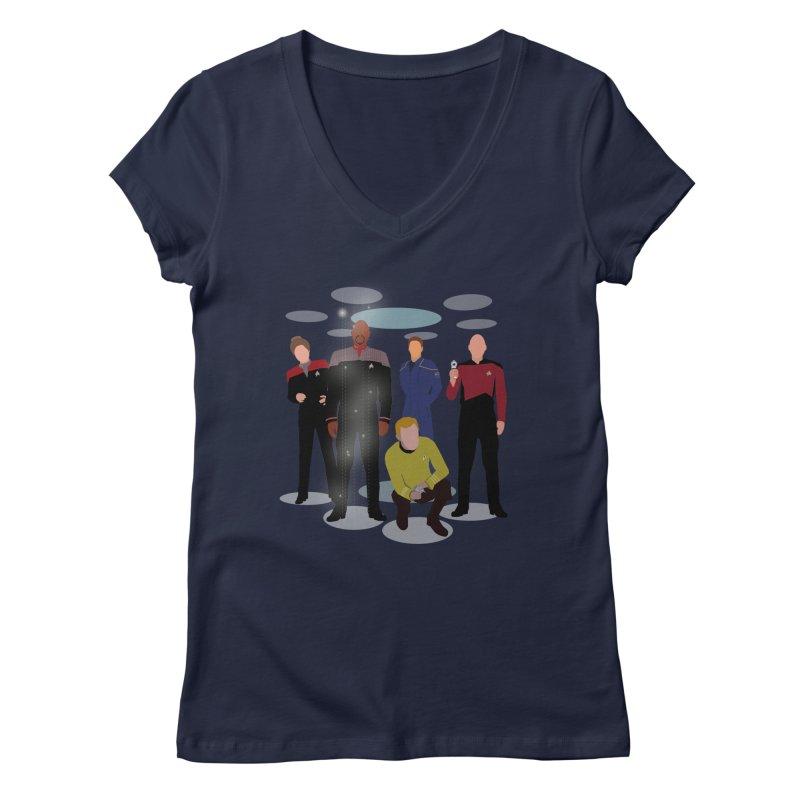 Captains Away Mission Women's Regular V-Neck by karmicangel's Artist Shop