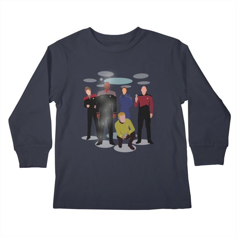 Captains Away Mission Kids Longsleeve T-Shirt by karmicangel's Artist Shop