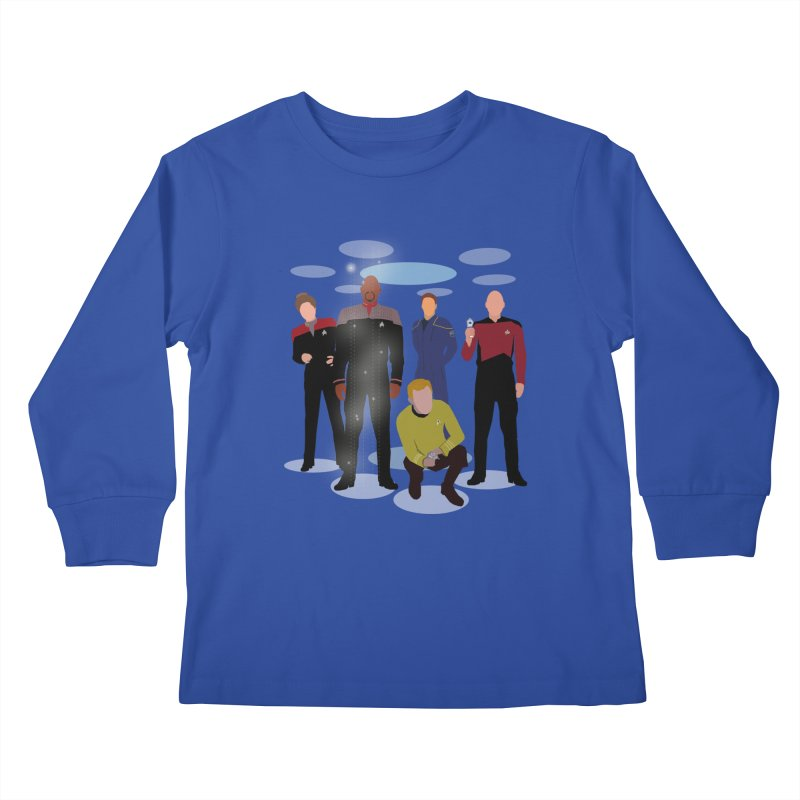 Captains Away Mission Kids Longsleeve T-Shirt by karmicangel's Artist Shop