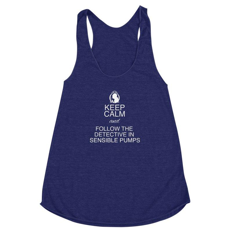 Portia Adams 'Keep Calm' Women's Racerback Triblend Tank by karmicangel's Artist Shop