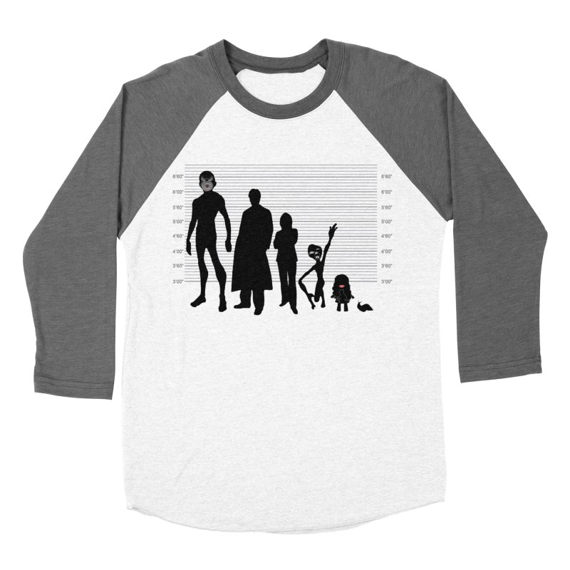 X-Files: The Usual Monsters Women's Baseball Triblend Longsleeve T-Shirt by karmicangel's Artist Shop