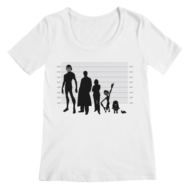 X-Files: The Usual Monsters Women's Regular Scoop Neck by karmicangel's Artist Shop