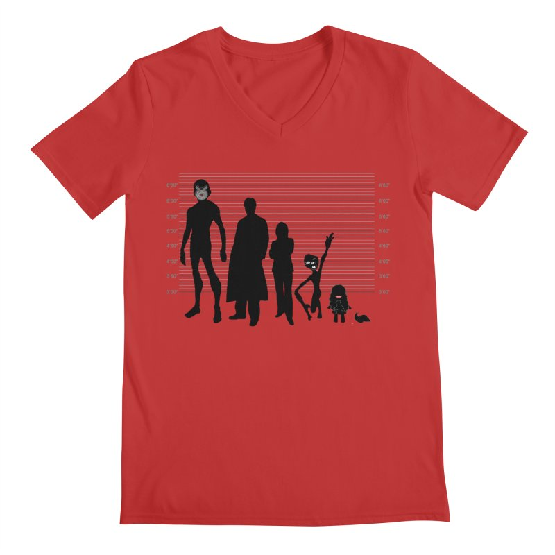 X-Files: The Usual Monsters Men's Regular V-Neck by karmicangel's Artist Shop