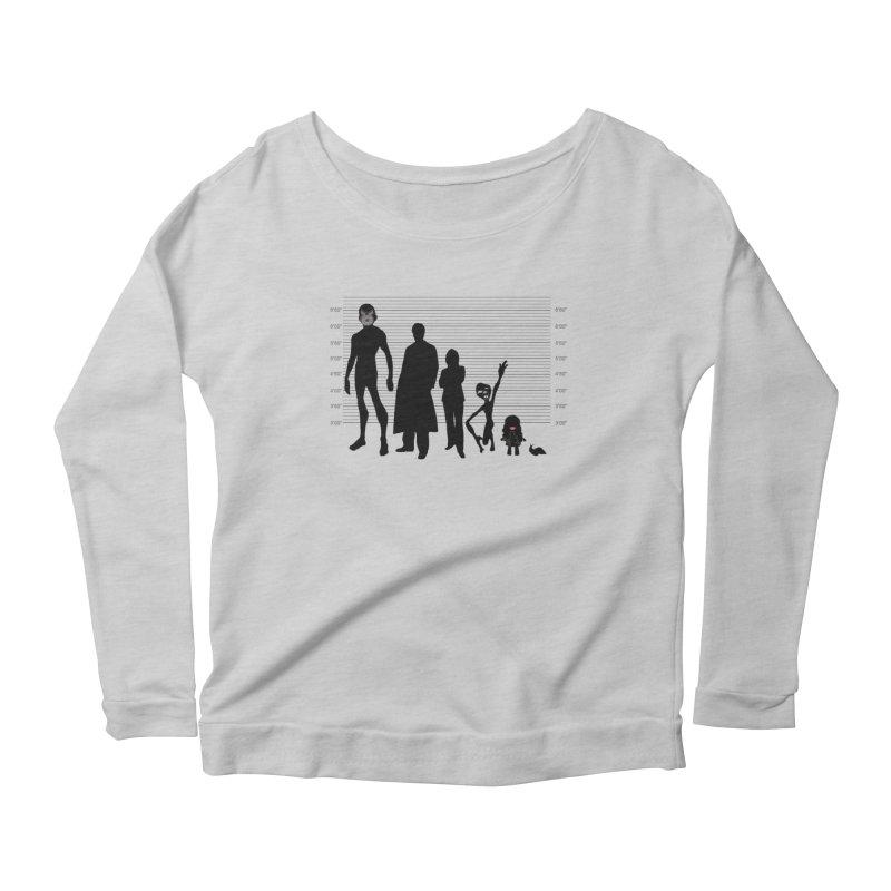 X-Files: The Usual Monsters Women's Scoop Neck Longsleeve T-Shirt by karmicangel's Artist Shop