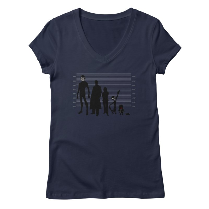 X-Files: The Usual Monsters Women's V-Neck by karmicangel's Artist Shop