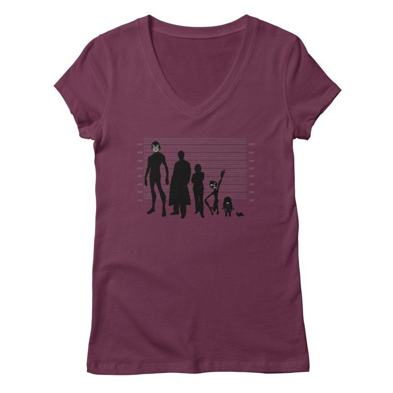 X-Files: The Usual Monsters Women's Regular V-Neck by karmicangel's Artist Shop