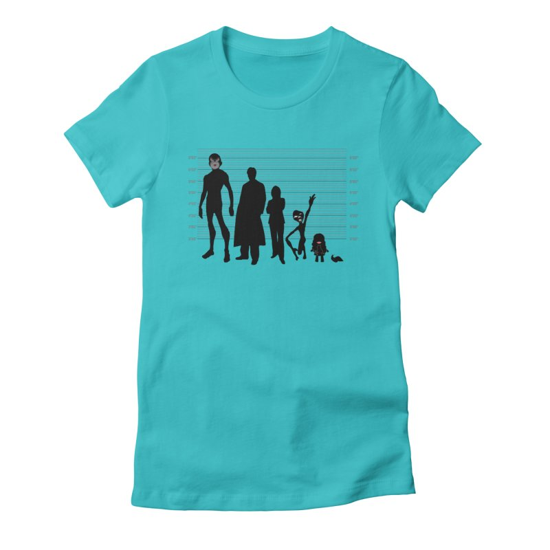X-Files: The Usual Monsters Women's Fitted T-Shirt by karmicangel's Artist Shop