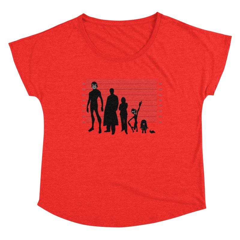 X-Files: The Usual Monsters Women's Scoop Neck by karmicangel's Artist Shop