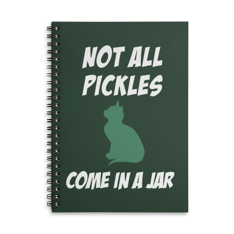 Pickles vs the Zombies Accessories Lined Spiral Notebook by karmicangel's Artist Shop