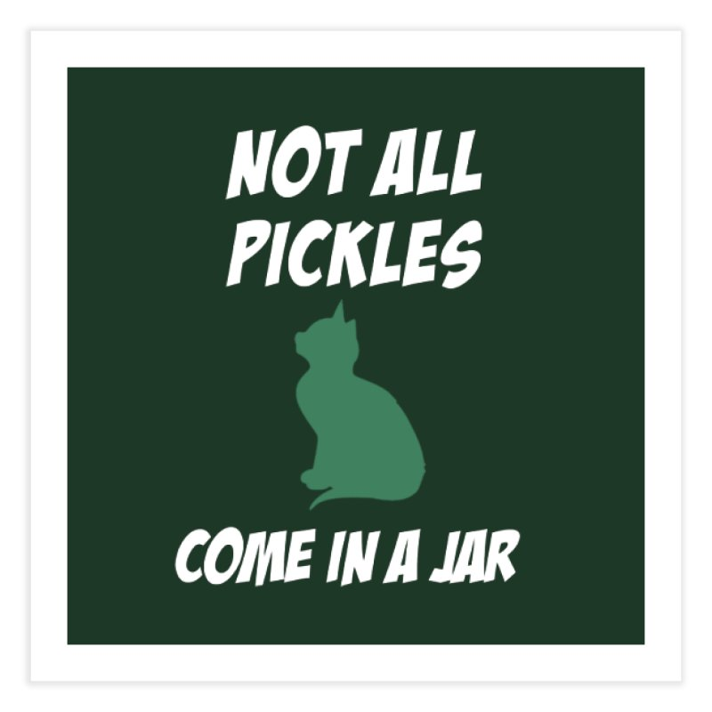 Pickles vs the Zombies Home Fine Art Print by karmicangel's Artist Shop