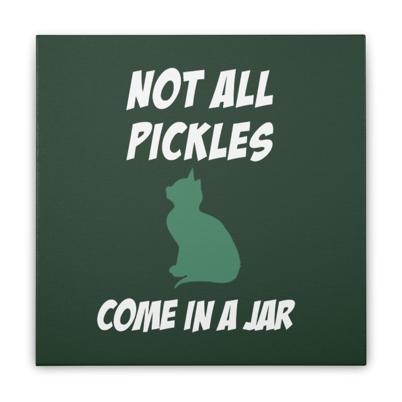 Pickles vs the Zombies Home Stretched Canvas by karmicangel's Artist Shop