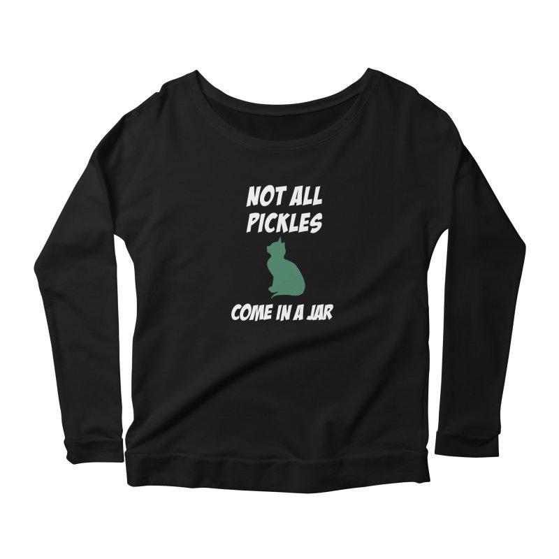Pickles vs the Zombies Women's Scoop Neck Longsleeve T-Shirt by karmicangel's Artist Shop