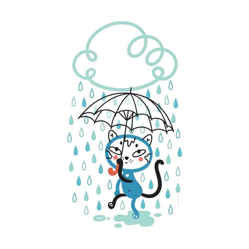 Cat In The Rain by karrrart's Artist Shop