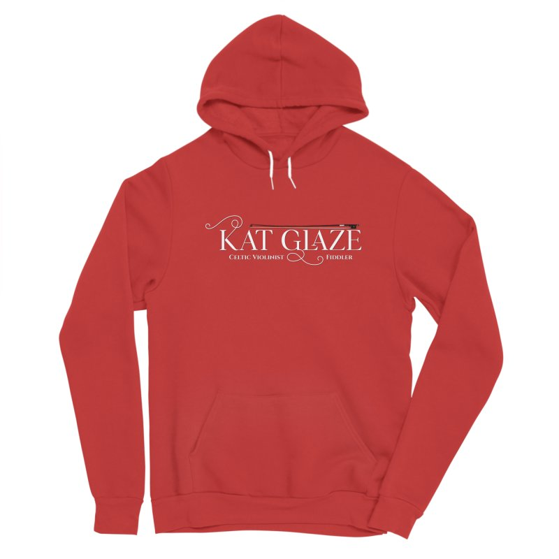 Kat Glaze - Logo White Women's Pullover Hoody by Kat and The Fiddle