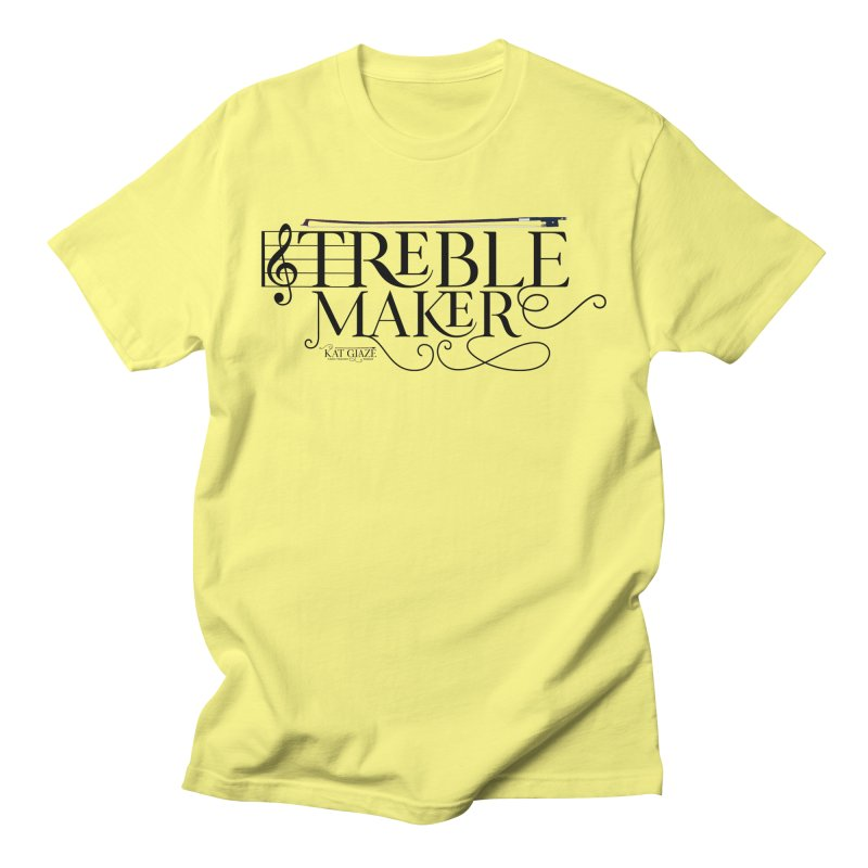 Treble Maker - Kat Glaze   Celtic Violinist Men's T-Shirt by Kat and The Fiddle