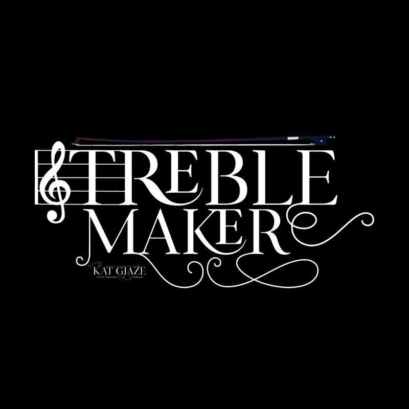 Treble Maker - White - Kat Glaze   Celtic Violinist Women's Sweatshirt by Kat and The Fiddle
