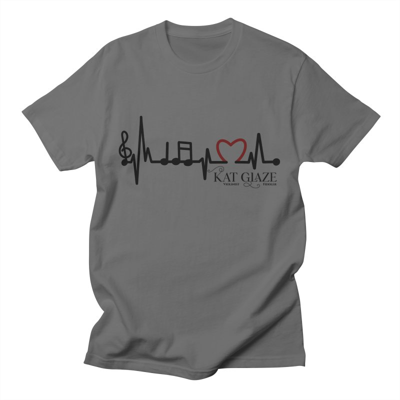 Music in the Heart Men's T-Shirt by Kat and The Fiddle