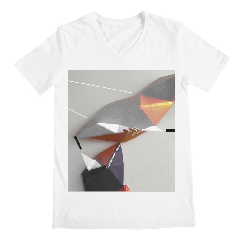 Polygon I Men's Regular V-Neck by Kacix Artist Shop