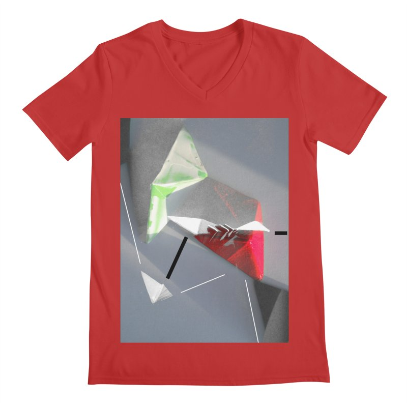 Polygon II Men's Regular V-Neck by Kacix Artist Shop