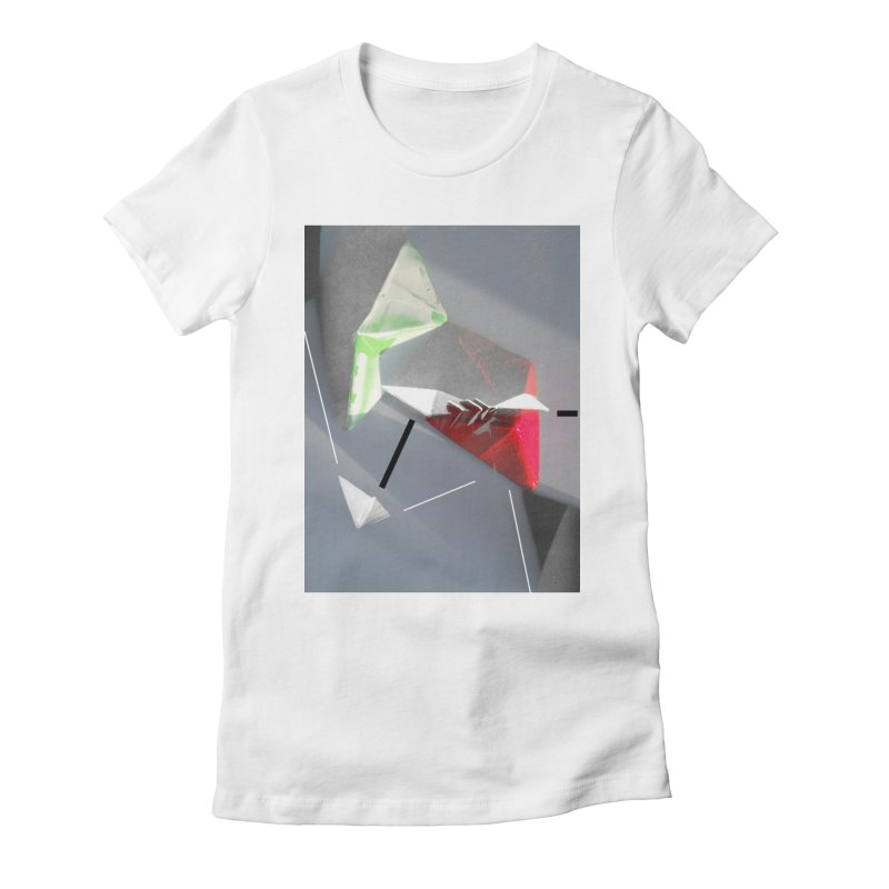 Polygon II Women's Fitted T-Shirt by Kacix Artist Shop