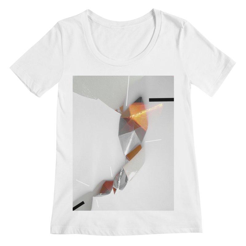 Polygon III Women's Scoopneck by Kacix Artist Shop