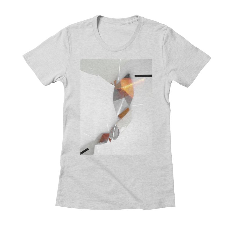 Polygon III Women's Fitted T-Shirt by Kacix Artist Shop