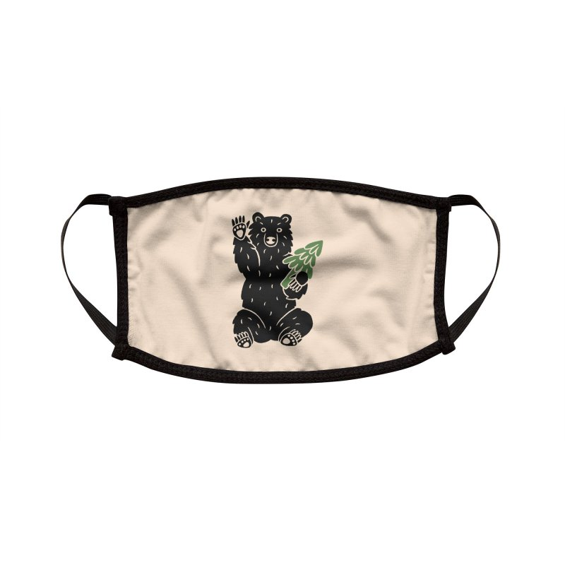 Bear in the Woods Accessories Face Mask by Katdog