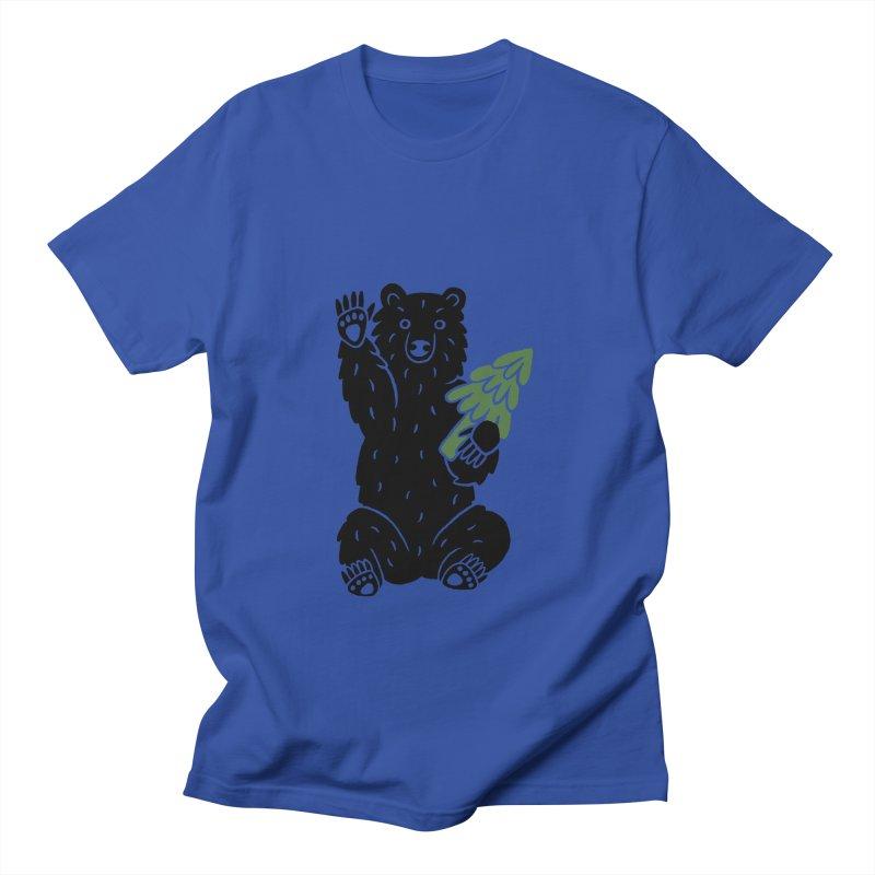 Bear in the Woods Men's T-Shirt by Katdog