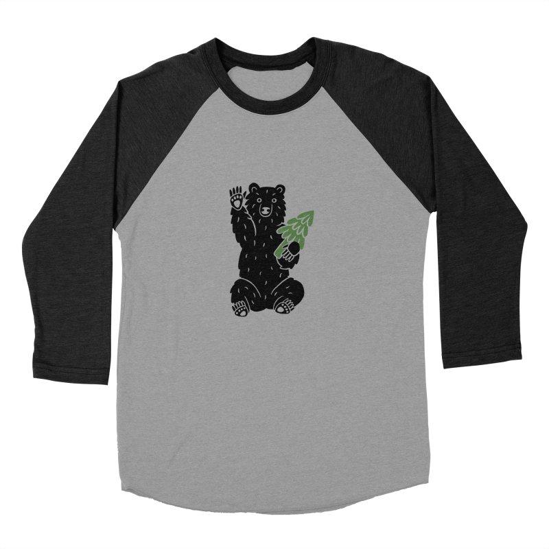 Bear in the Woods Men's Longsleeve T-Shirt by Katdog