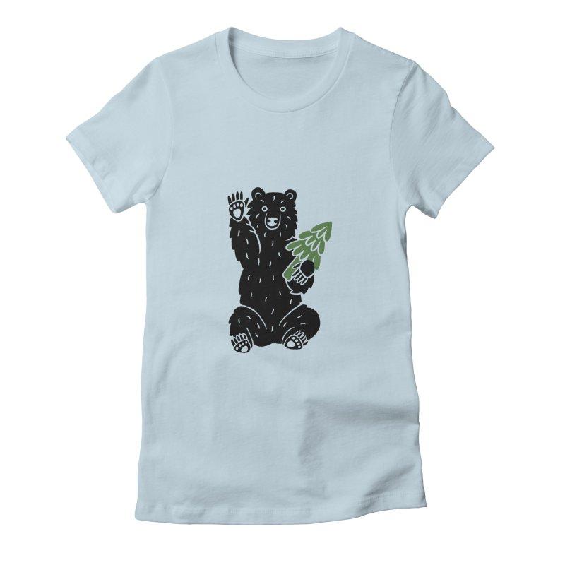 Bear in the Woods Women's T-Shirt by Katdog