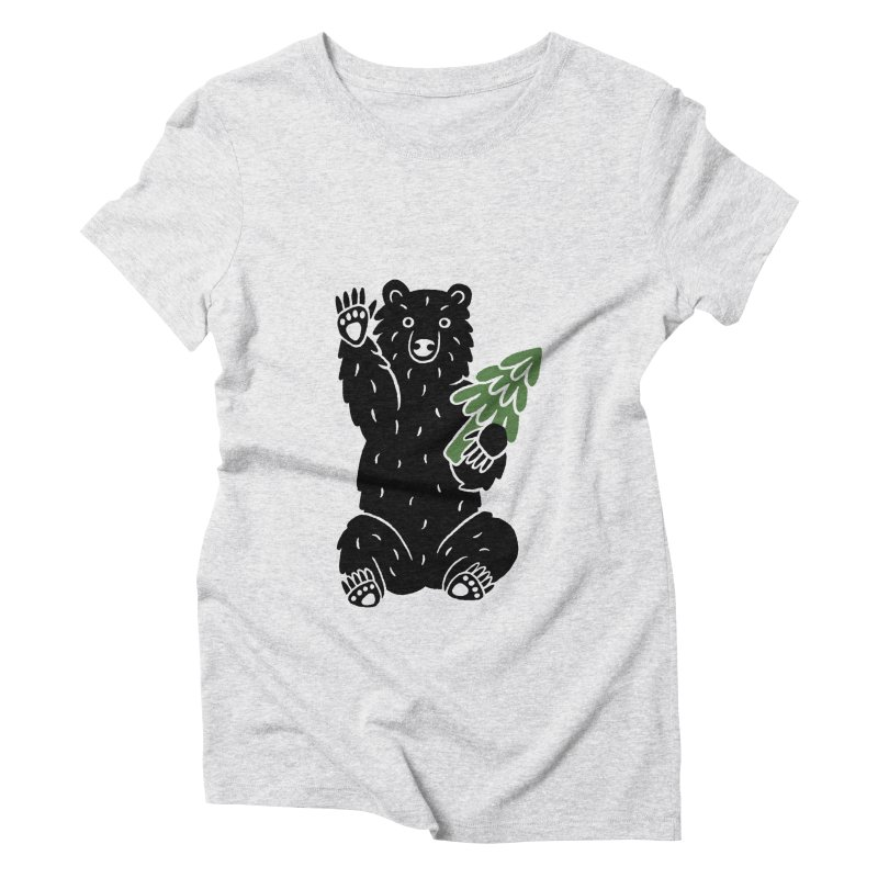 Bear in the Woods Women's T-Shirt by Katdog