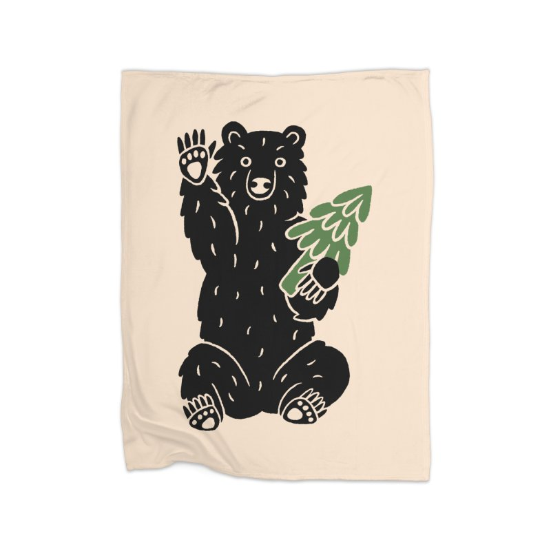 Bear in the Woods Home Blanket by Katdog