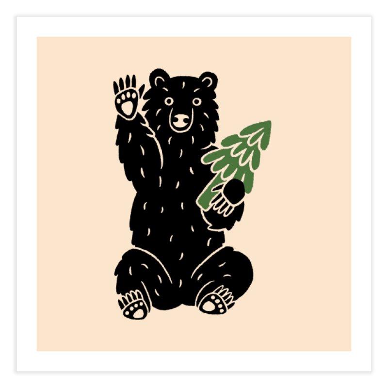 Bear in the Woods Home Fine Art Print by Katdog