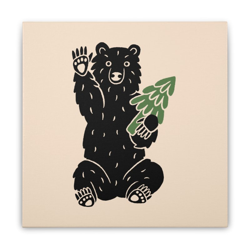 Bear in the Woods Home Stretched Canvas by Katdog