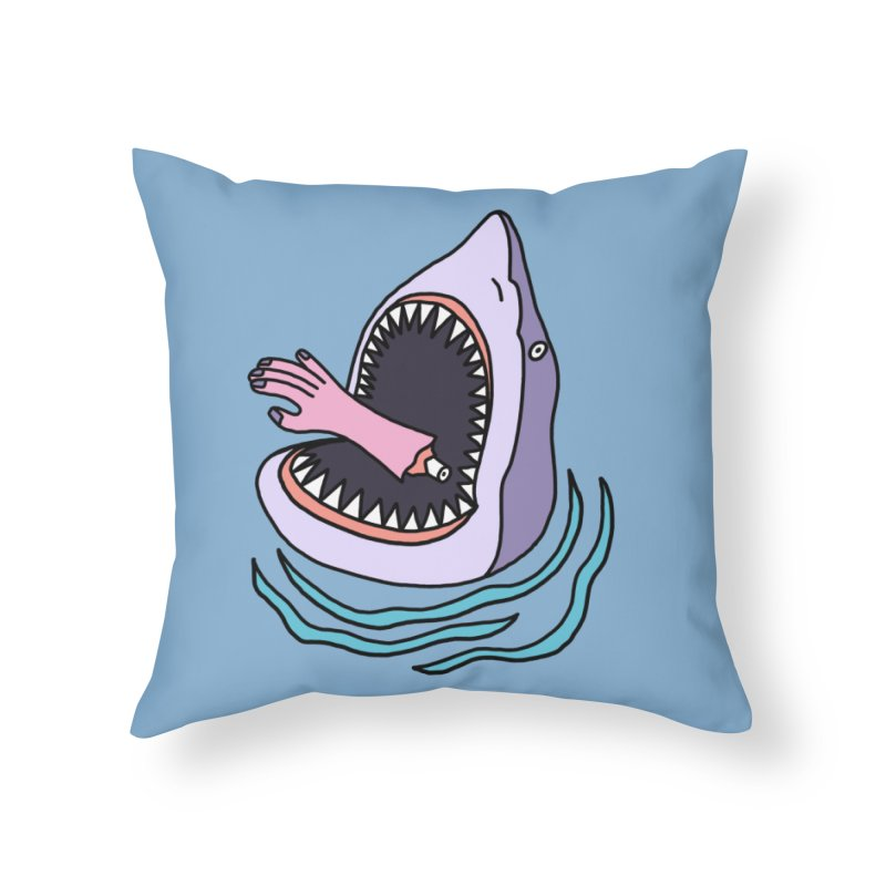 Deadly Catch Home Throw Pillow by Katdog