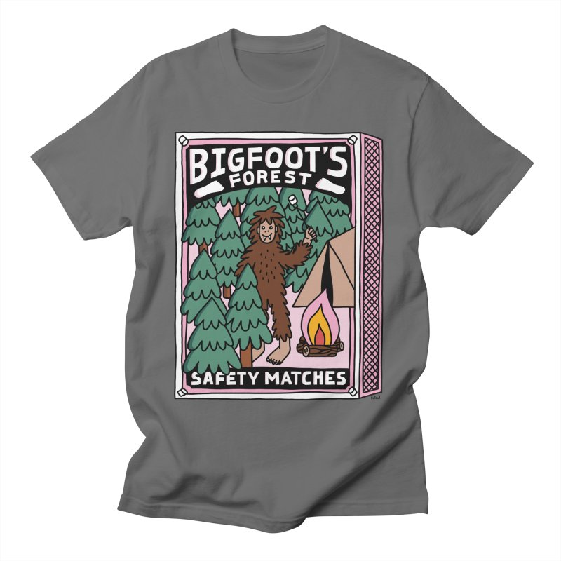 Bigfoot's Forest Safety Matches Men's T-Shirt by Katdog