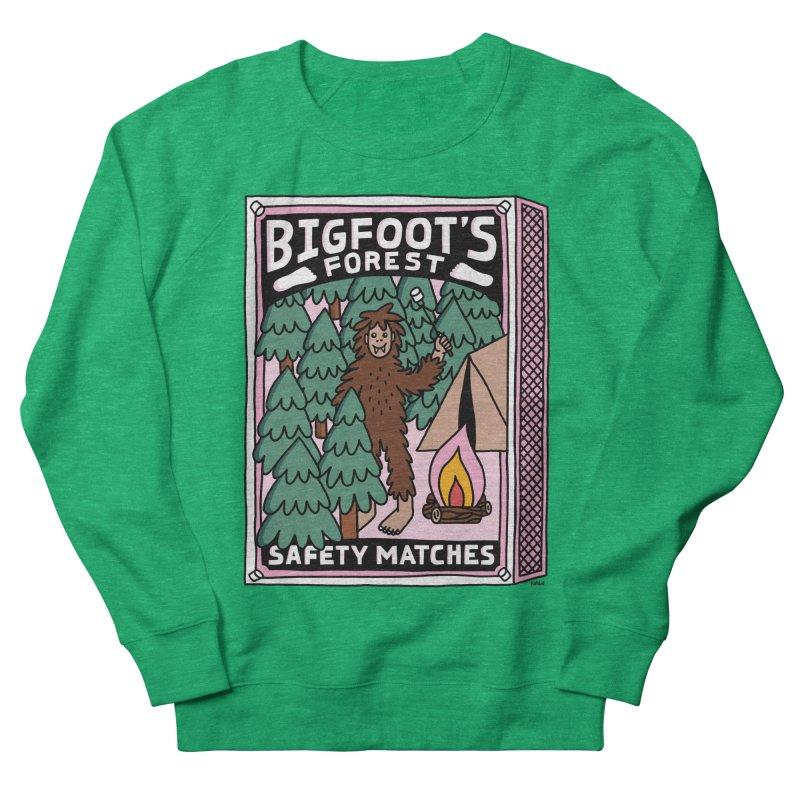 Bigfoot's Forest Safety Matches Women's Sweatshirt by Katdog
